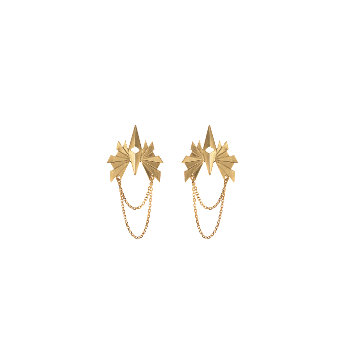 flare-chain-earring-gold