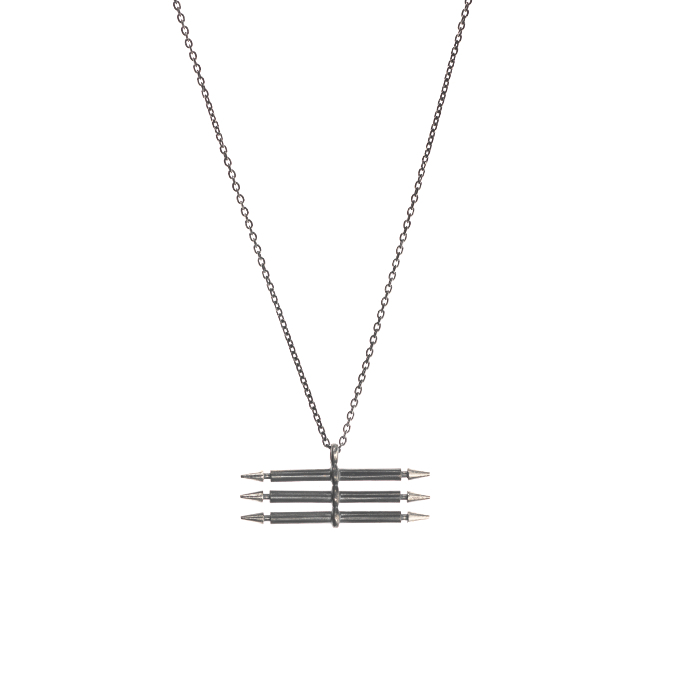 tripple-spear-necklace-oxid