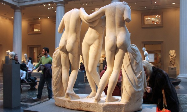 Marble statue of the Three Graces, Roman, Imperial period, 2nd century A.D. 2