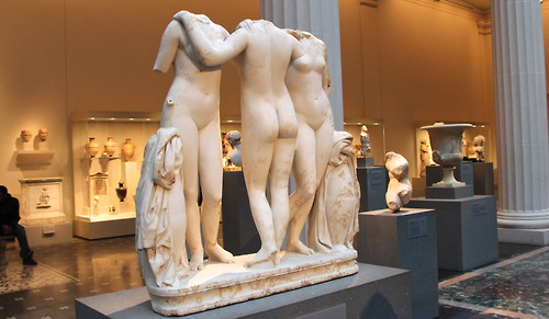 Marble statue of the Three Graces, Roman, Imperial period, 2nd century A.D.
