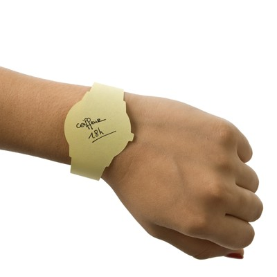 bloc-de-post-it-montre-memo vu sur l'avangardiste 9.90€