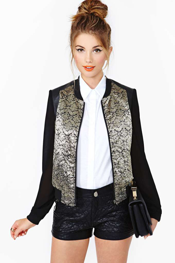 Dusted Bomber Jacket sur Nasty Gal 88$