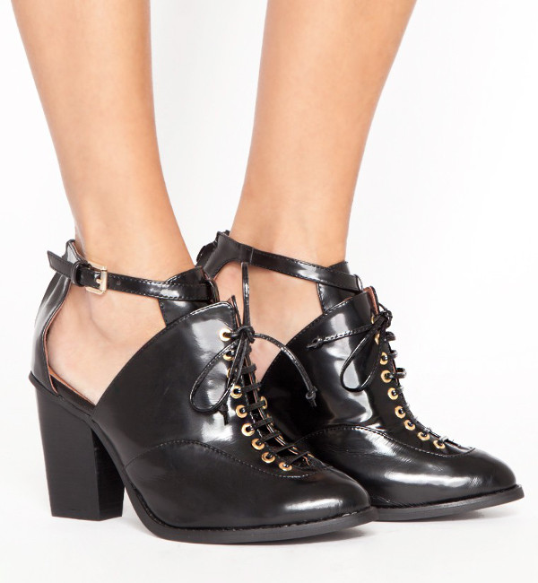 pixie market Amata Lace Up Booties
