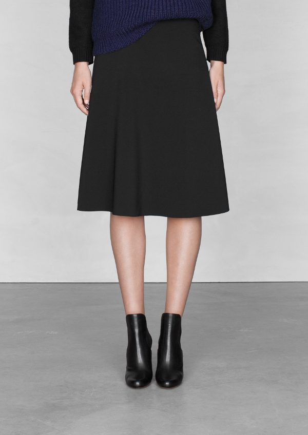 andotherstories - A-LINE MIDI SKIRT - 55e