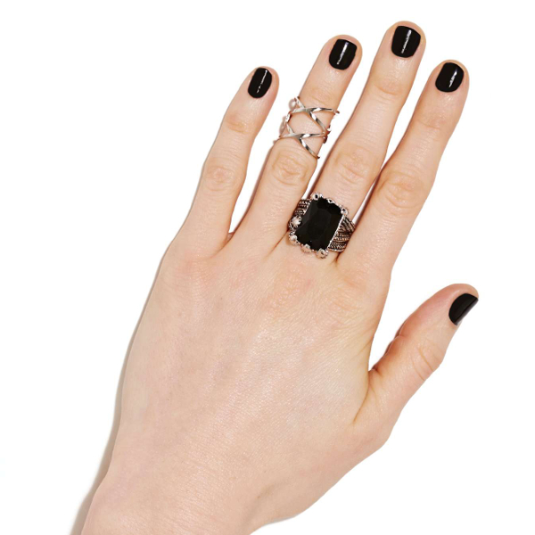 Nasty Gal - Double Take Midi Ring 10$