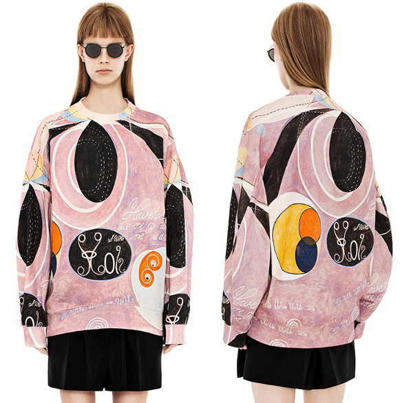 Sweat-shirt Beta, collection hommage à Hilma af Klint par Acne Studios