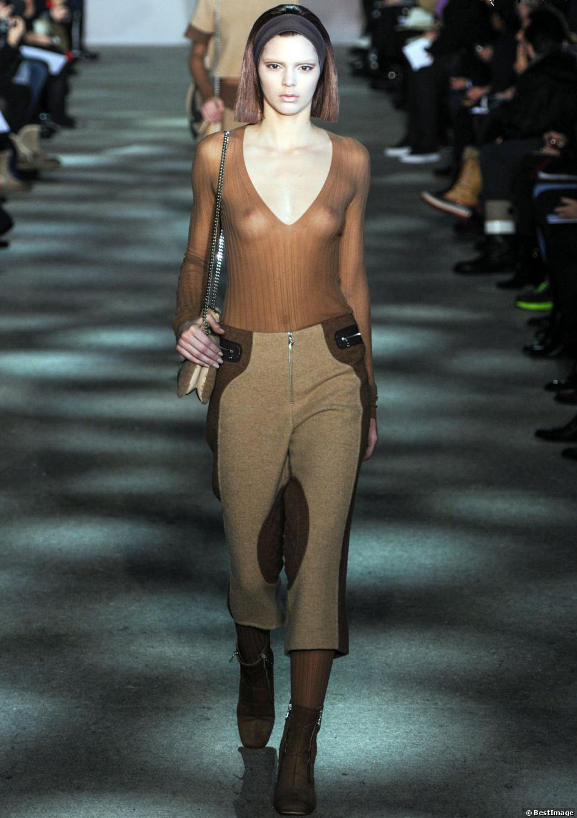 Transparence Kendall Jenner chez Marc Jacobs Automne-Hiver 2014-2015