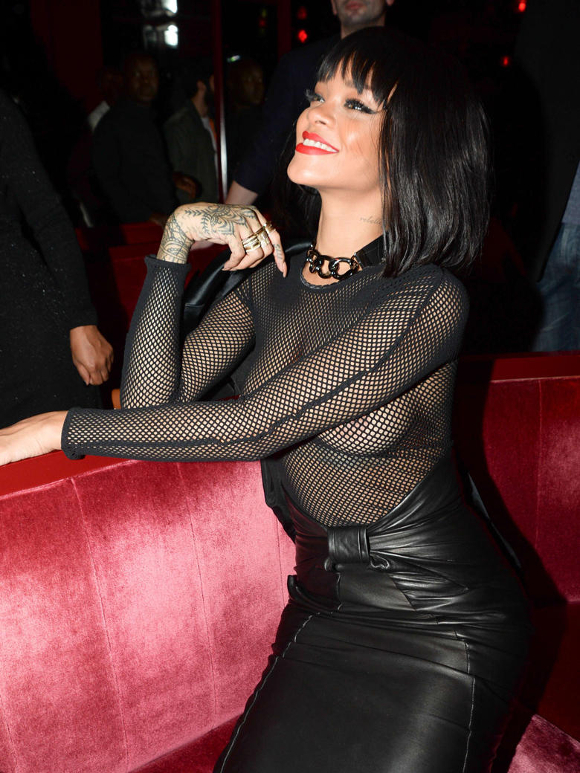 Transparence RIHANNA À L'AFTER-PARTY BALMAIN
