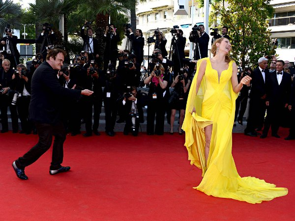 Quentin Tarantino with Uma Thurman - 20th anniversary of Pulp Fiction at the Cannes film festival
