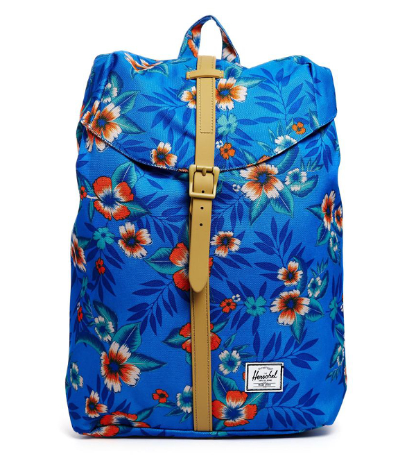 Herschel - Post - Sac à dos à imprimé tropical