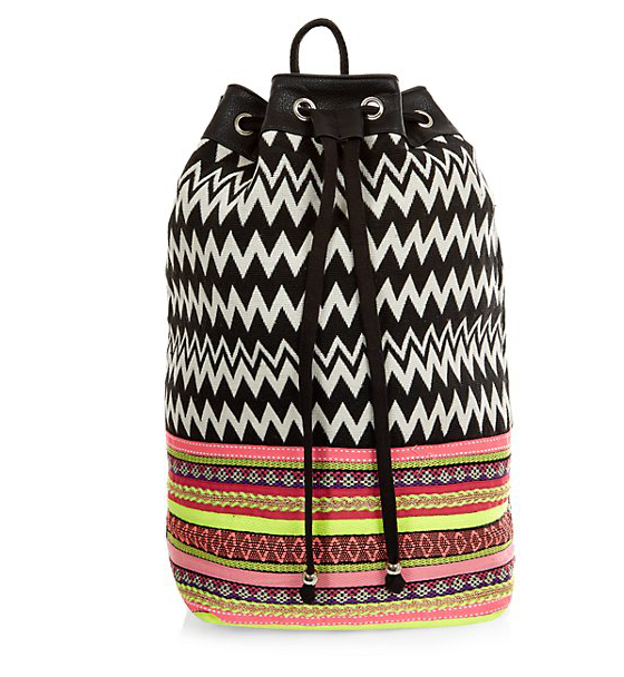 Newlook Neon Black Duffle Backpack 24.99