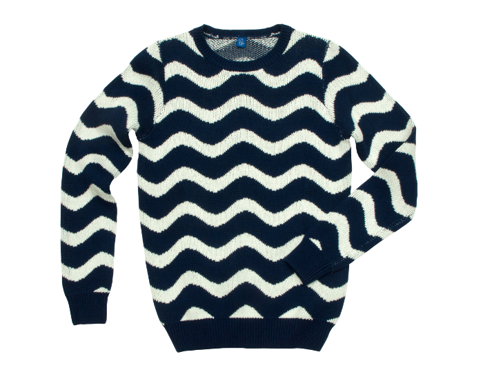 WAVE JACQUARD SWEATER 230e