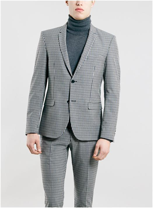 Selected, Homme Grey Checked Suit €220 (Topman