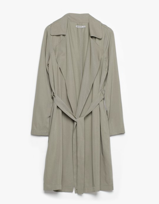 TRENCH-COAT LONG FLUIDE 29.95 Stradivarius