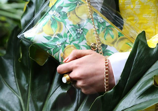 Tropical paradise - Mitika wearing Ottoman Hands at Barbicans hidden tropical gardens http buff ly 1HX4f6W