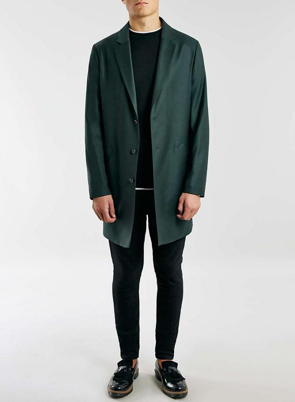 Green duster suit jacket TOPMAN